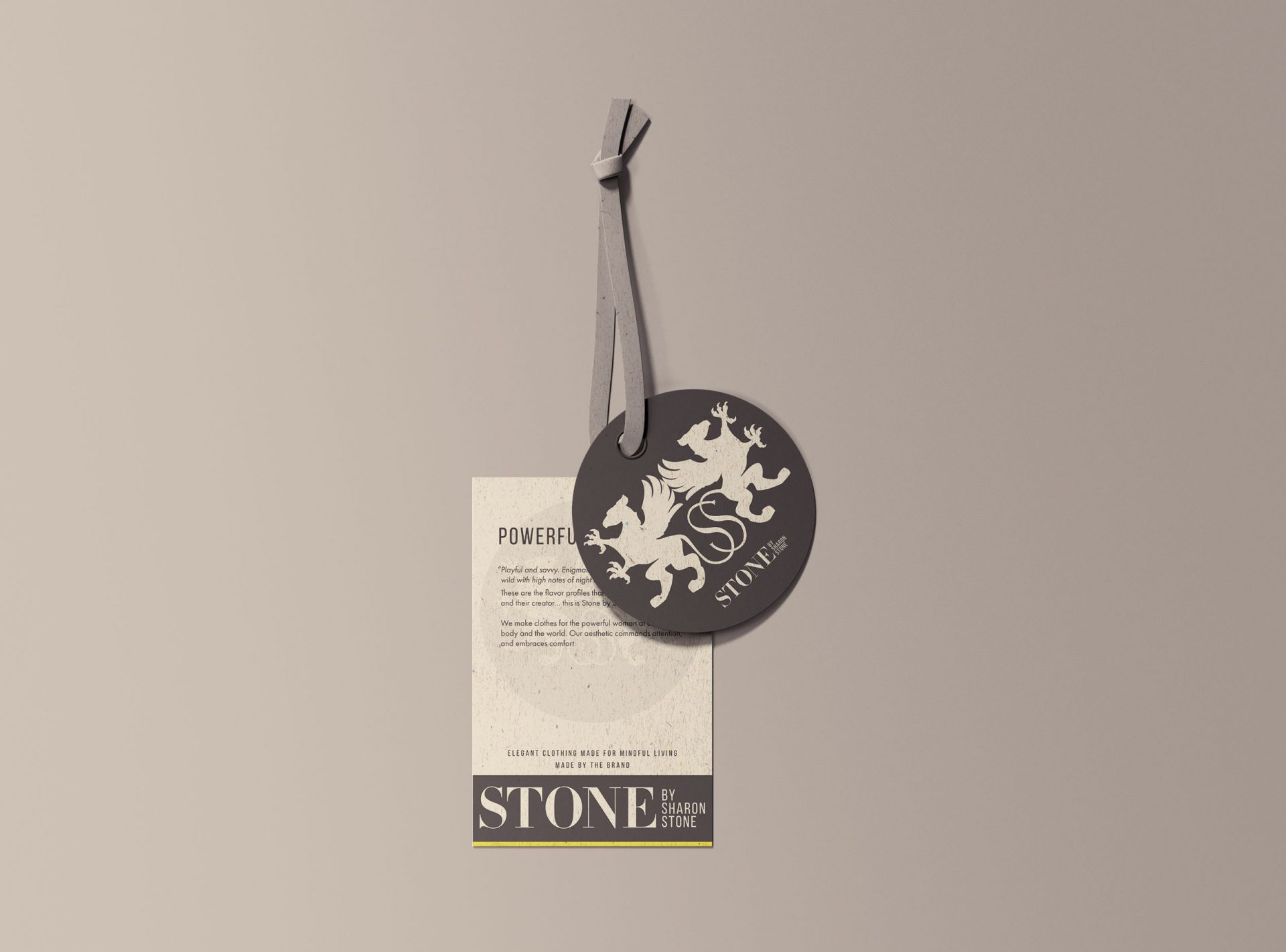 Stone by Sharon Stone label prototypes